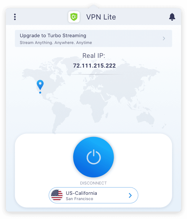Set Up KeepSolid VPN Lite for Mac - connected