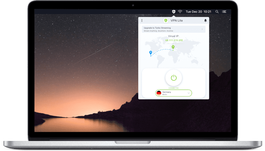 KeepSolid VPN Lite: Best VPN for MacBook Pro to Become Anonymous