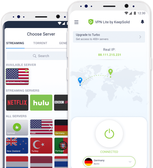 VPN for Samsung - VPN Lite servers selection